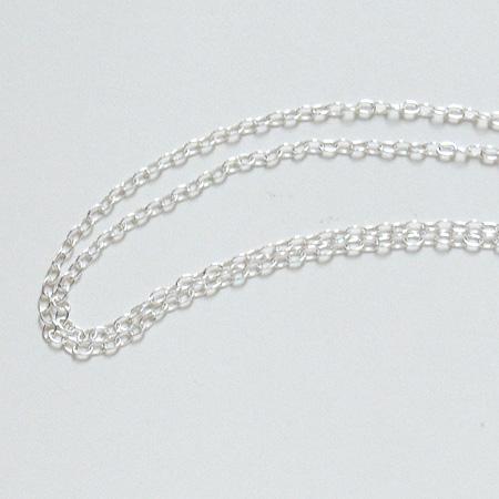 *Tarjous* Hopeaketju, tyylikäs siro design, hopea 925, paksuus n. 0.6mm (Huom: hieno), pituus 45cm, vieterilukko