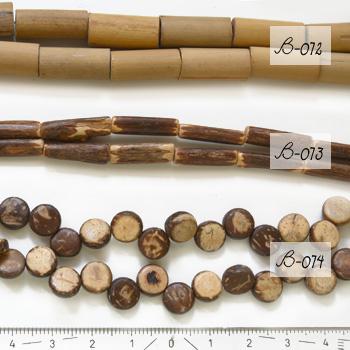 Design puuhelmi, kookos, kuvassa #B-074, kiekko, halkaisija noin 7-8mm, 6 kpl