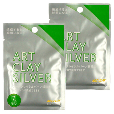 *Art Clay Silver -hopeasavi normaali, TUPLAPAKKAUS 2x7g