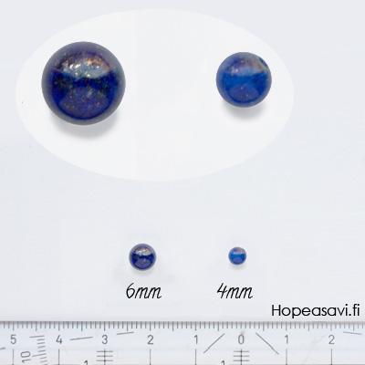 Lapis (Tumman sininen), helmi, puoliväliinporattu, 4mm, 1kpl