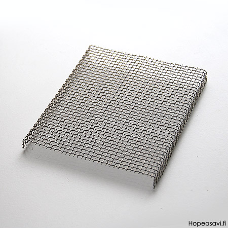 Polttoalusta, verkko, sopii PRO1 uunitilaan, ruostumatonta terästä, 12x10x1cm