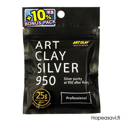 *Poistomyynti -Uusi koostumus tulossa huhtikuussa* Art Clay Silver 950 Professional, hopea & kupari -sekoitus (polton jälkeen hopea 95%) BONUSPAKKAUS 25g+2.5g
