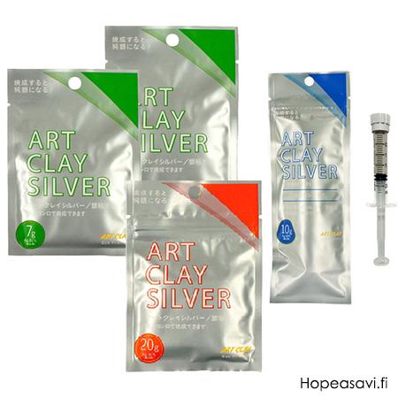 *Pakettitarjous 30.4.2020. asti*  Art Clay Silver hopeasavi 44g (2x7g+20g+10g pursotin ilman suutinta)