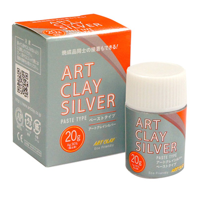 *Art Clay Silver -hopeasavi, siveltävä liete/pasta 20g -UUSI PASTA (lisää ominaisuuksia)