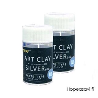 *Varaston viimeiset -Tuplapakkaus Art Clay 650 -hopeasavi, liete/pasta 10g, 2 kpl (OVH. 54.58) rajoitettu tarjous