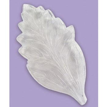 *Siivousmyynti* Muotti, Lehtitekstuuri/ Terälehtimuotti, kestävää muovia, kova, noin 14x7 cm, OVH 14.49