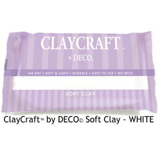 *Viimeinen kpl* DECO ClayCraft pehmeä ilmassa kuivuva massa, valkoinen, noin 16x11x2.5cm, 137g