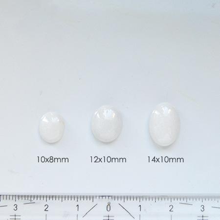 *Uutuus* Dolomiitti Marmori, kapussi, valkoinen, soikea, 10x8mm, 1 kpl