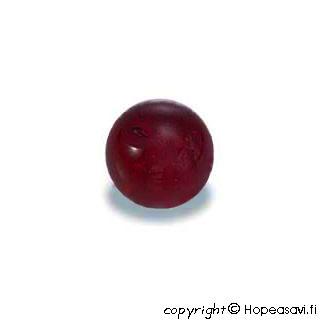 Garnetti, helmi, tumma punainen, puoliväliinporattu, 5mm, 1kpl