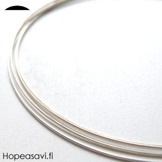 *tarjous* Hopealanka 925, puolipyöreä, 5.2x2.6mm, 13cm