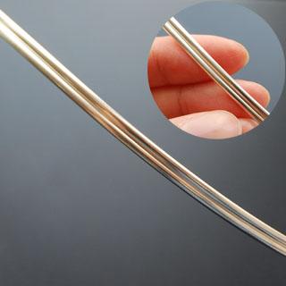 Hopealanka 925, *Tupla -puolipyöreä*, LxP noin 4x1mm, 10cm