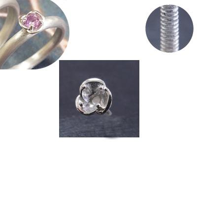 """*Uutuus* Istukka """"ORVOKKI"""" pyöreälle 3mm zirkoniakivelle, hopea 925, tukeva ruuvimainen istutuspiikki"""