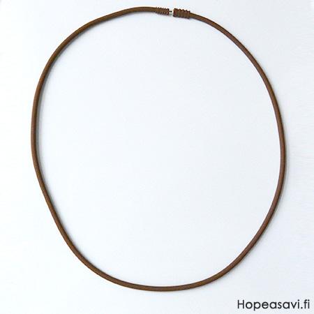 *Erä* Kaulaketju, silikonia, suklaan ruskea, paksuus 3mm, kätevä ja helppo kiinnitys, pituus 50cm