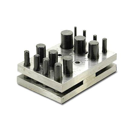 *Uusi malli* Kiekkoleikkuri (kolikkoleikkuri), 0.8mm tai ohuemmille levyille, 14 reikää 3-16mm