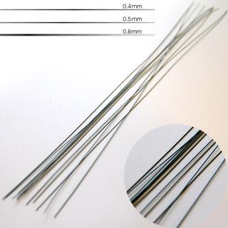 Työmateriaali: Kukkalanka, sidontalanka, pinnoitettu metallilanka, 0.5mm, 40cm, 15 kpl