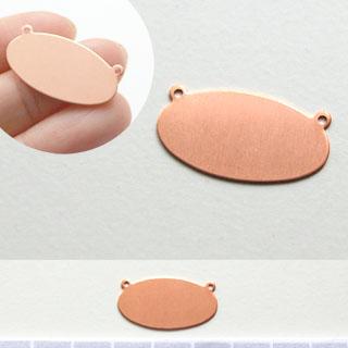 Kupari, muotopala, Soikea -vaakasuora, 25x13mm, paksuus 0.5mm, emalointiin tai korun osaksi, 2 kpl