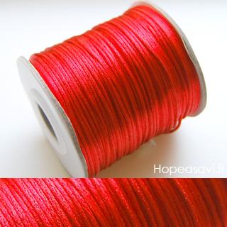 *Siivousmyynti - huom. setti* Lanka, satiinia, punainen 2.7m+musta 2.7m (yhteensä 5.4m)
