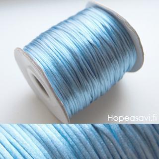 *Putkiremonttiale* Lanka, satiinia, Farkkukankaan sininen, 1mm, 5m (1x5m pussi), helmitöihin, kumihimoketjuihin jne.