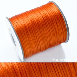 *Siivousmyynti -huom kaksi väriä* Lanka, satiinia, setti: oranssi 1.6m + musta 1.6m (yhteensä 3.2m)