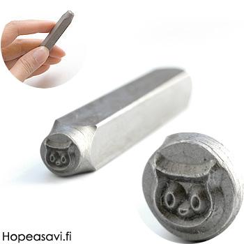 Leimasin, punsseli *KISSA*, noin 6x4mm, laadukasta karkaistua terästä, pituus noin 7cm, 1 kpl