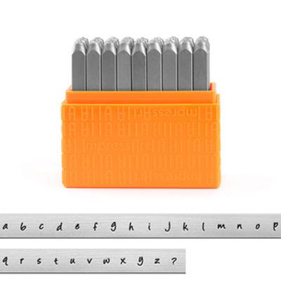 *Uutuus* Leimasin, punsselisetti, 'Bridgette´ PIENET kirjaimet, aakkoset a-z ja & -merkki, 27 kpl, leveys 3.0mm