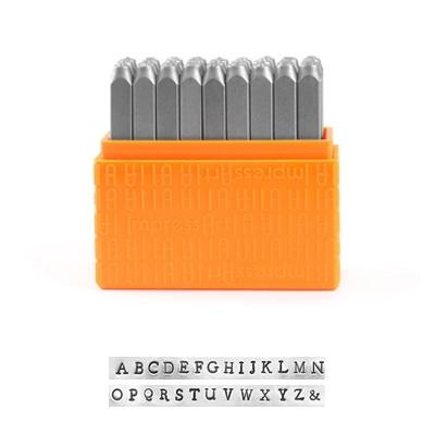 *Uutuus* Leimasin, punsselisetti, ´Newsprint' ISOT kirjaimet, aakkoset a-z ja & -merkki, 27 kpl, leveys 3mm