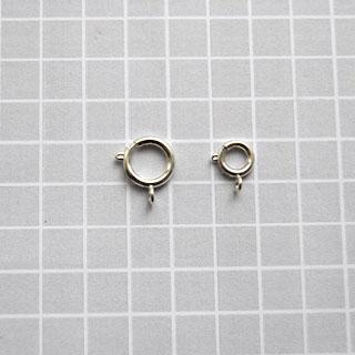 Lukko, hopeoitua messinkiä, jousilukko, 12mm, tukeva malli, 2 kpl