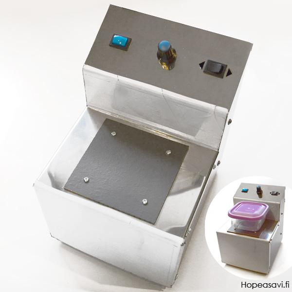 *Uutuus* Magneettinen kiillotuskone+neulahaulit, hopeakoruille, kaksisuuntainen, tehonsäätö, *Huom -Tilaustuote: toimitusaika noin 2 viikkoa*