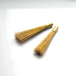 Harjakset kynämalliseen kiillotusharjaan, messinki, 1 kpl, valmistettu Saksassa