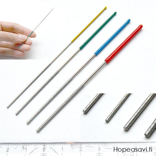 *Uutuus* Mikroviila -setti, erittäin ohuita timanttiviiloja, 4 kpl, 1.5-0.8mm