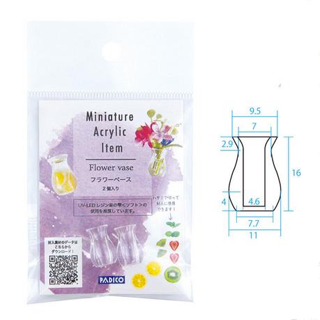 *Uutuus* Miniatyyri KUKKA VAASI, kirkasta akryyliä, korkeus 1.7cm, soveltuu UV-geelitöihin, 2 kpl