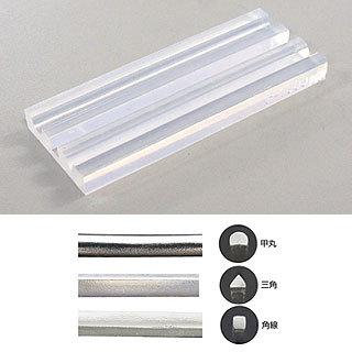 Muotti, joustavaa muovia, ACS Exclusive, 3 profiilia: pyöreä, kolmio, neliö, pituus 7.5cm *Vinkki: Muotilla saa tehtyä upean sormuksen*
