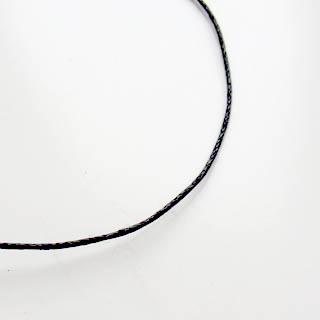 *Erä* Nauha, puuvillaa, musta, laadukas vahattu nauha, 1mm, pyöreä, 10m