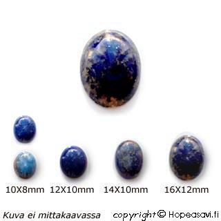 Lapis (Tumman sininen), kapussi, soikea 10x8mm, 1 kpl