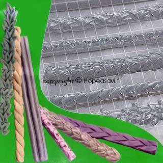 Painomuotti, Reunuksia, puolikova, transparantti, sopii myös UV-hartsikoruille, 14x16cm (huom. kuvassa cm-ruudukko)