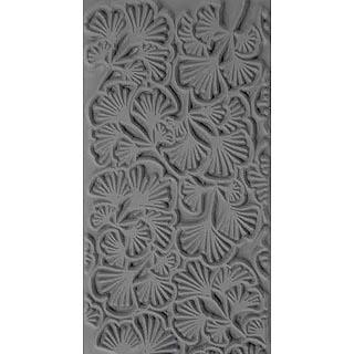 """Pintakuviointiin: Tekstuurilevy, joustavaa silikonia, 10x5cm, """"Neidonhiuspuun lehtiä"""""""