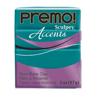 premo! Accents -- Peacock Pearl -Riikinkukon vihreä