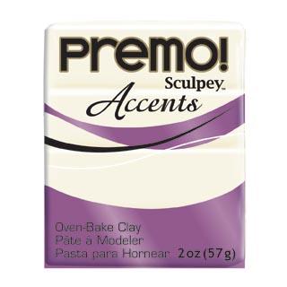 premo!  Accents -- White Translucent (valkoinen läpikuultava)