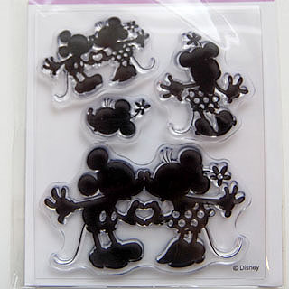 *Siivousmyynti -mallikappale* Leimasin, joustava & läpinäkyvä, noin 11x8 cm, (c) Disney 'Mickey & Minnie'