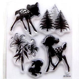 *Siivousmyynti -mallikappale* Leimasin, joustava & läpinäkyvä, noin 11x8 cm, (c) Disney 'Bambi'
