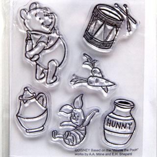*Siivousmyynti -mallikappale* Leimasin, joustava & läpinäkyvä, noin 11x8 cm, (c) Disney, 'Nalle Puh'
