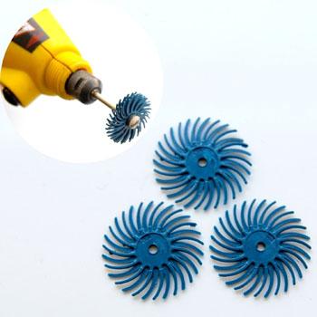 Hioma-ja kiillotuslaikka kaikille metalleille, 3M -tuote, sininen -karkeus 400, halkaisija 19mm, 3kpl (ilman vartta)