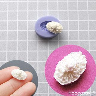 Muotti, joustavaa silikonia, kukkakimppu 'Siro' (noin 10x5mm)