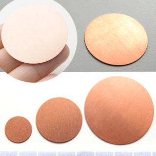 Kupari, muotopala, Ympyrä, läpimitta 38mm, paksuus 0.5mm, 1 kpl, emaloi, patinoi, kuvioi tai käytä sellaisenaan