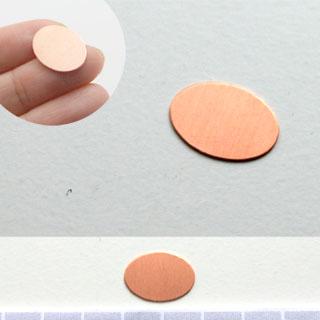 Kupari, muotopala, Soikea, 18x13mm, paksuus 0.5mm, emalointiin tai korun osaksi, 3kpl