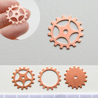 Kupari, muotopala, Ratas, läpimitta 19mm, paksuus 0.5mm, emalointiin tai korun osaksi, 3 kpl