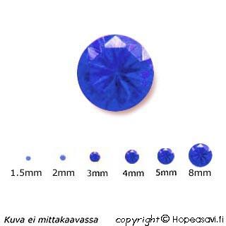 Spinelli, Sininen (Blue), Pyöreä, 2mm, 5kpl