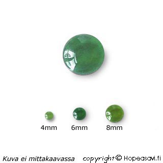 Jade, pyöröhiottu kapussi, pyöreä, 4mm, 1 kpl