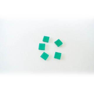 Sulatuslasi, valmiiksi leikattuja 10X10mm paloja, sini-vihreä, 5kpl