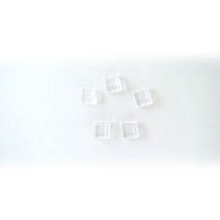 Sulatuslasi, valmiiksi leikattuja 10X10mm paloja, kristallinkirkas, 5kpl
